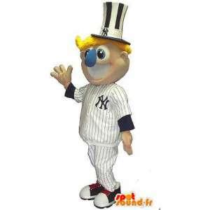 New York Yankee supporter maskot, baseball forklædning -