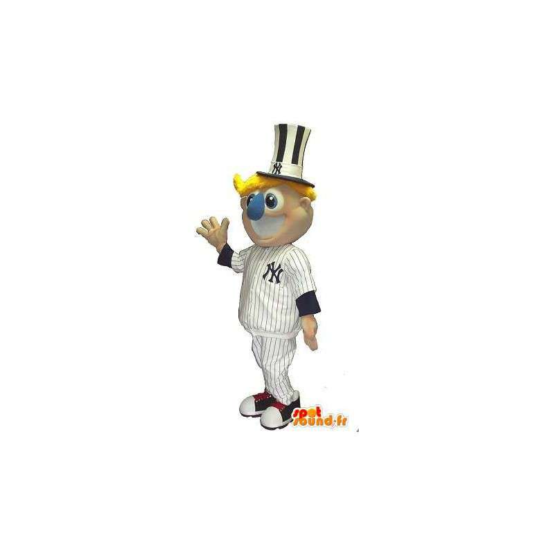 Bear mascot New York Yankee baseball disguise - MASFR001953 - Sports mascot