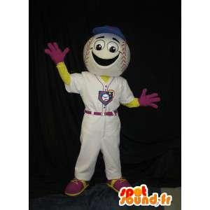 Mascotte de balle de baseball, déguisement joueur de baseball