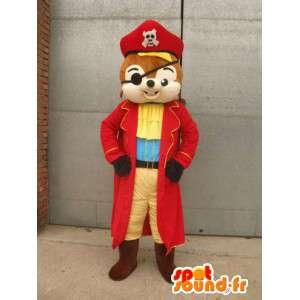 Eichhörnchen-Maskottchen-Pirat - Tierkostüm für Verkleidung