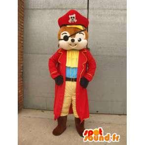 Mascotte Ecureuil Pirate - Costume animal pour déguisement - MASFR00165 - Mascottes Ecureuil