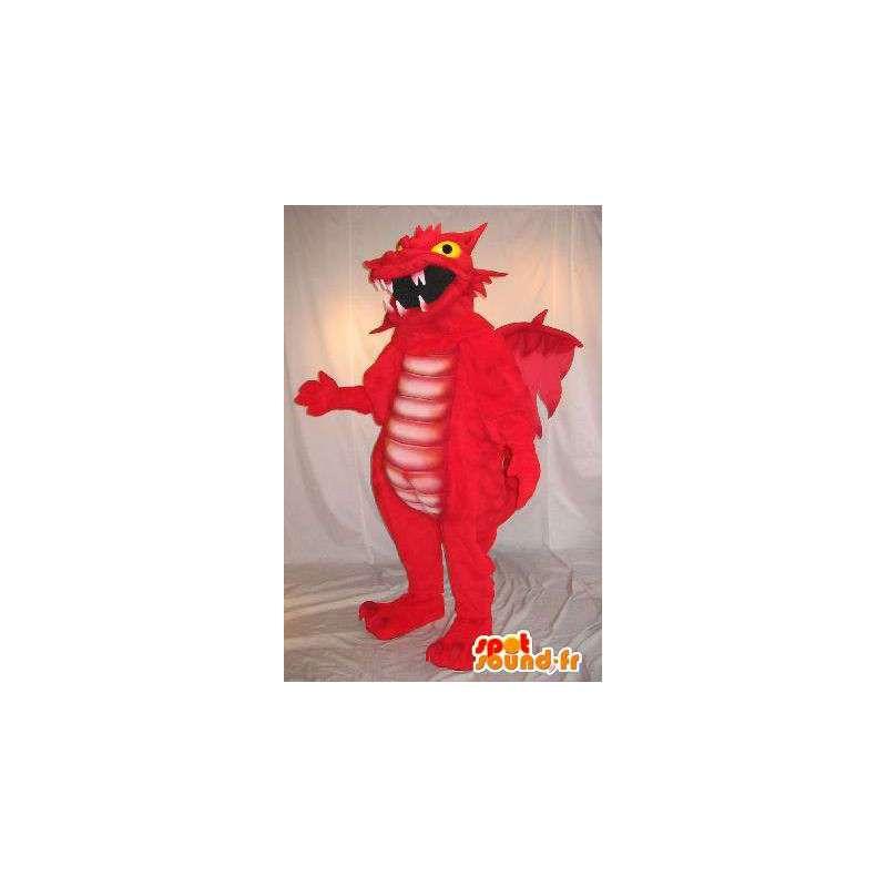 Maskotti punainen lohikäärme, fantastinen eläinten naamioida - MASFR001962 - Dragon Mascot