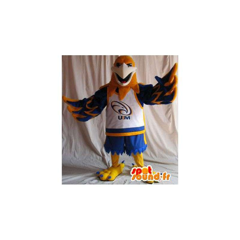 Mascot eagle holding basketball, basketball disguise - MASFR001963 - Mascot of birds