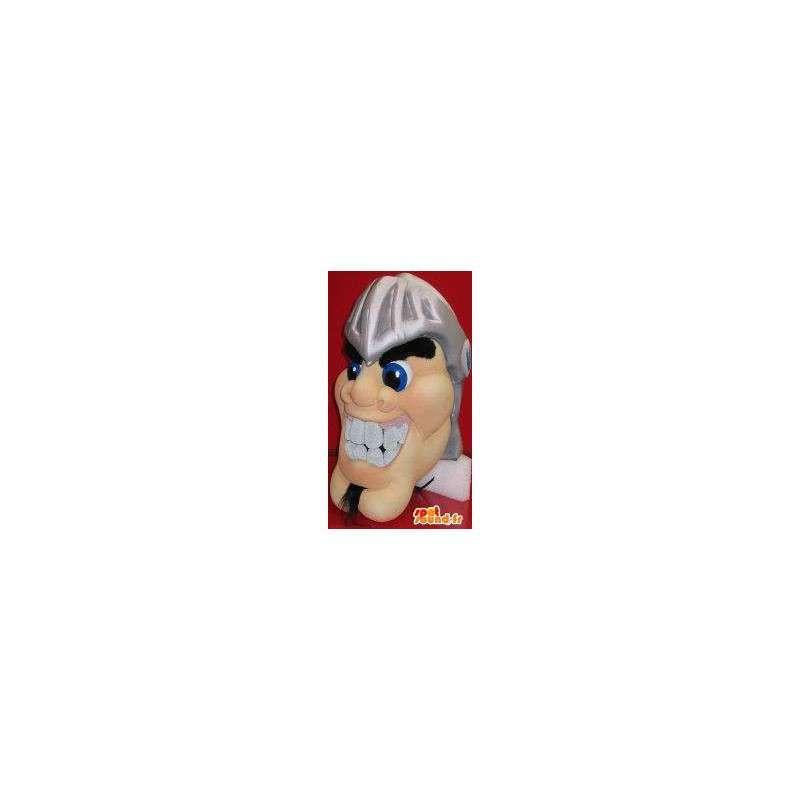 Mascotte représentant une tête d'homme en casque romain - MASFR001964 - Têtes de mascottes