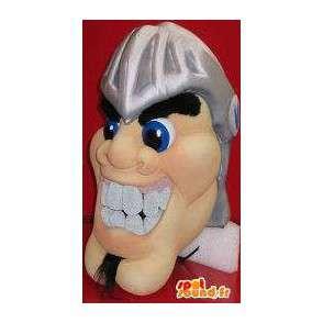 Mascot wat neerkomt op een man het hoofd in de Romeinse helm - MASFR001964 - Heads mascottes