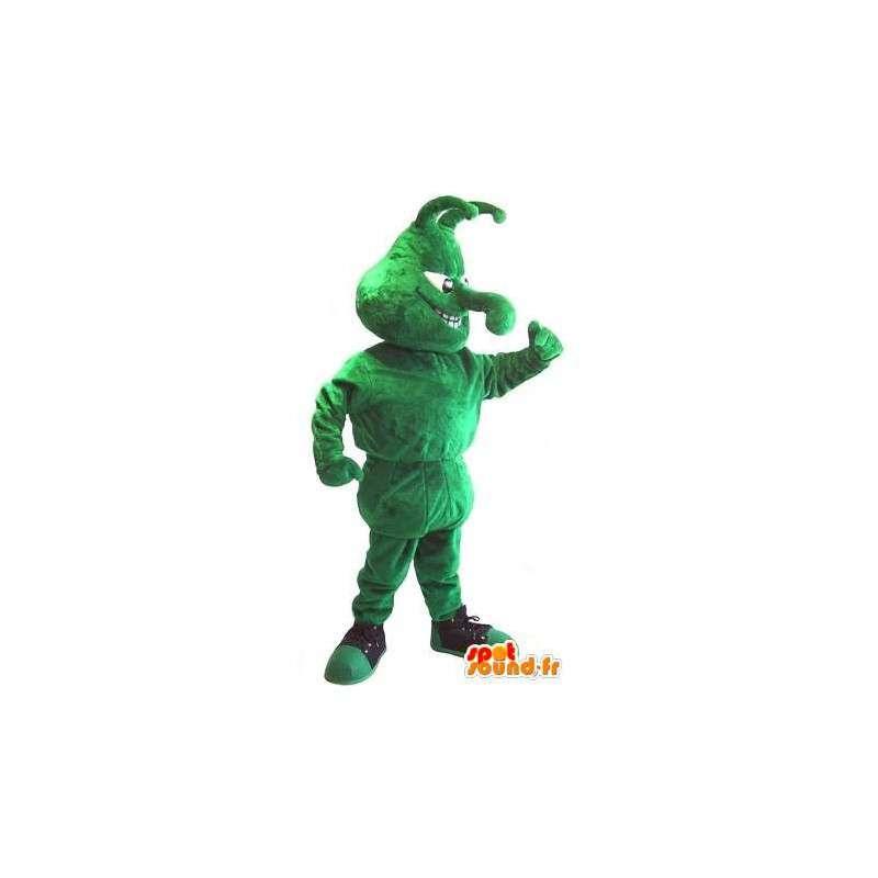 Mascotte représentant un insecte vert en chaussure de sport - MASFR001965 - Mascottes Insecte