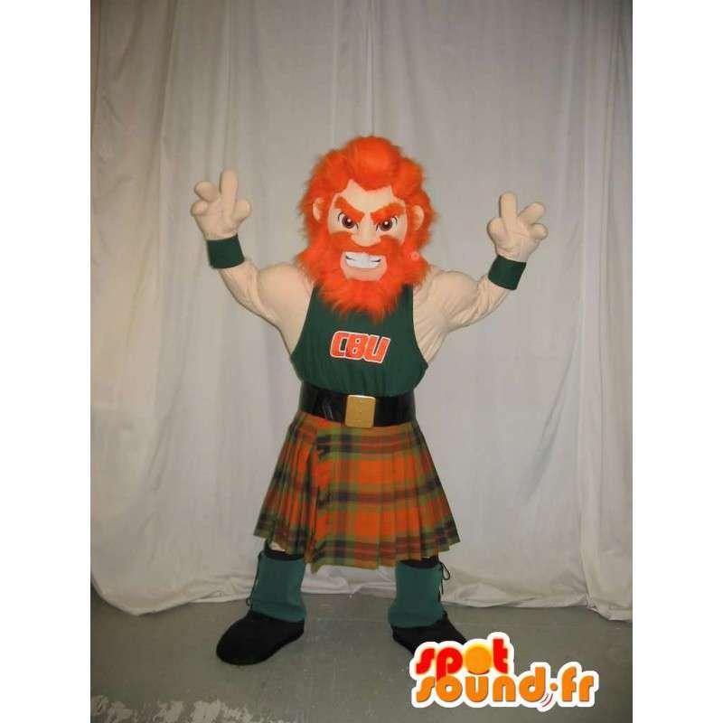 Scottish worstelen mascotte, worstelaar kostuum in kilts - MASFR001969 - man Mascottes