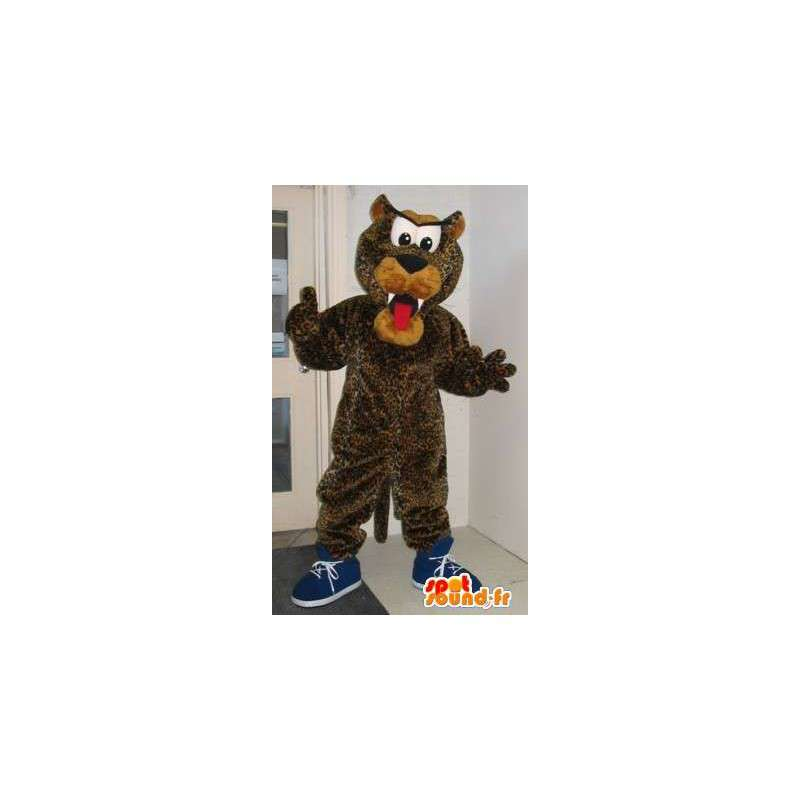 Mascot representerer en leopard hund, plysj drakt - MASFR001972 - Dog Maskoter