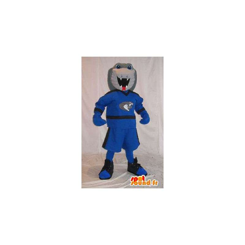 Cobra mascot in sports clothes, costume snake - MASFR001977 - Sports mascot