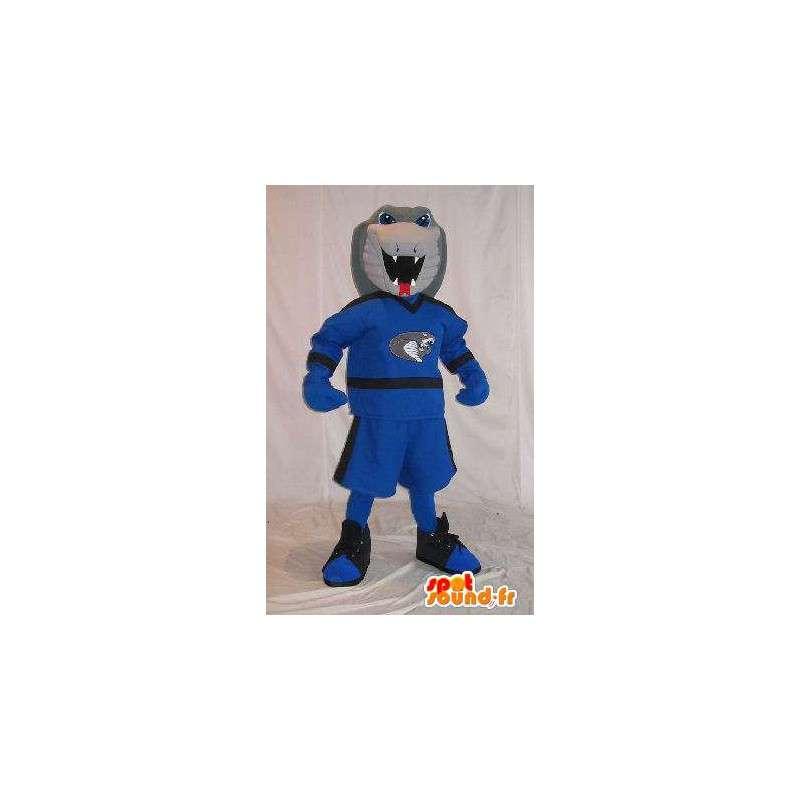 Cobra-Maskottchen in sportlichen Outfit Kostüm-Schlange - MASFR001977 - Sport-Maskottchen