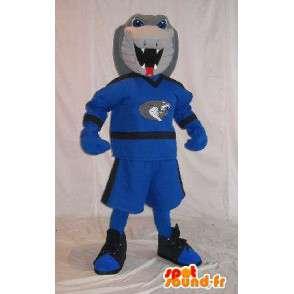 Mascotte Cobra in abiti sportivi, serpente costume - MASFR001977 - Mascotte sport