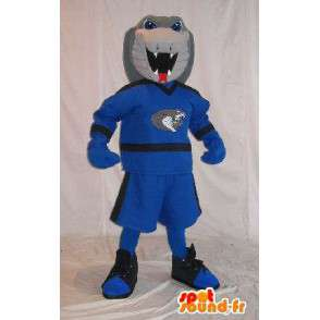 Mascotte de cobra en tenue sportive, déguisement de serpent - MASFR001977 - Mascotte sportives