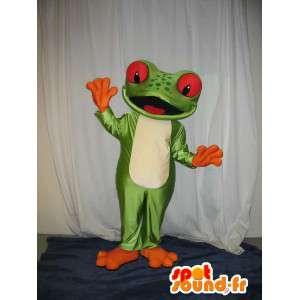 Mascot wat neerkomt op een kikker, kikker kostuum - MASFR001978 - Kikker Mascot
