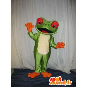 Representing a mascot frog costume frog