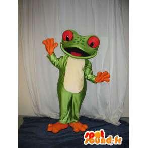 Maskotti edustaa sammakko, sammakko puku - MASFR001978 - sammakko Mascot