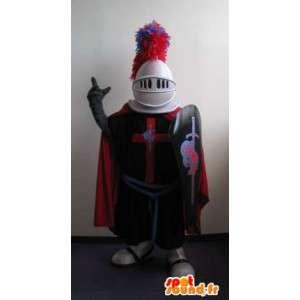 Ridder mascotte middeleeuws, kruisvaarder vermomming - MASFR001980 - mascottes Knights