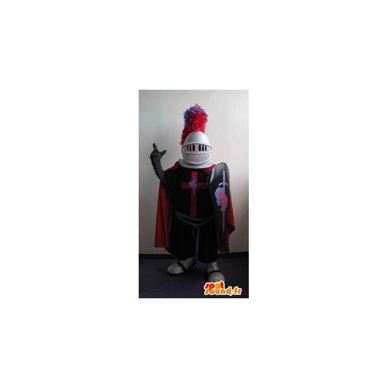 Mascotte de chevalier du Moyen Âge, déguisement de croisé - MASFR001980 - Mascottes de chevaliers