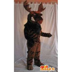 Maskottchen die eine braune Elch-Kostüm Weihnachten - MASFR001981 - Weihnachten-Maskottchen