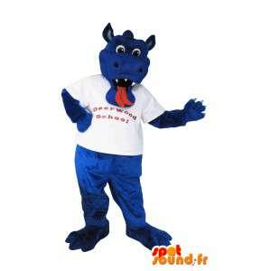 Maskot som representerar draken Murray, imaginär förklädnad -