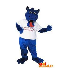 Mascotte représentant le dragon Murray, déguisement imaginaire - MASFR001983 - Mascotte de dragon
