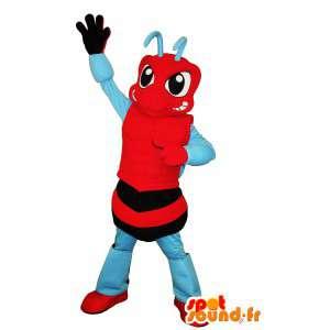 Mascot representando una hormiga, insecto disfraz sociales