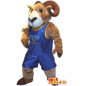 Mascot vertegenwoordigt een ram worstelaar vechten verhullen - MASFR001987 - Mascot Bull