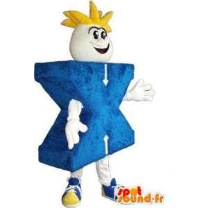 Mascot die den Buchstaben X Kostüm-Buchstaben X
