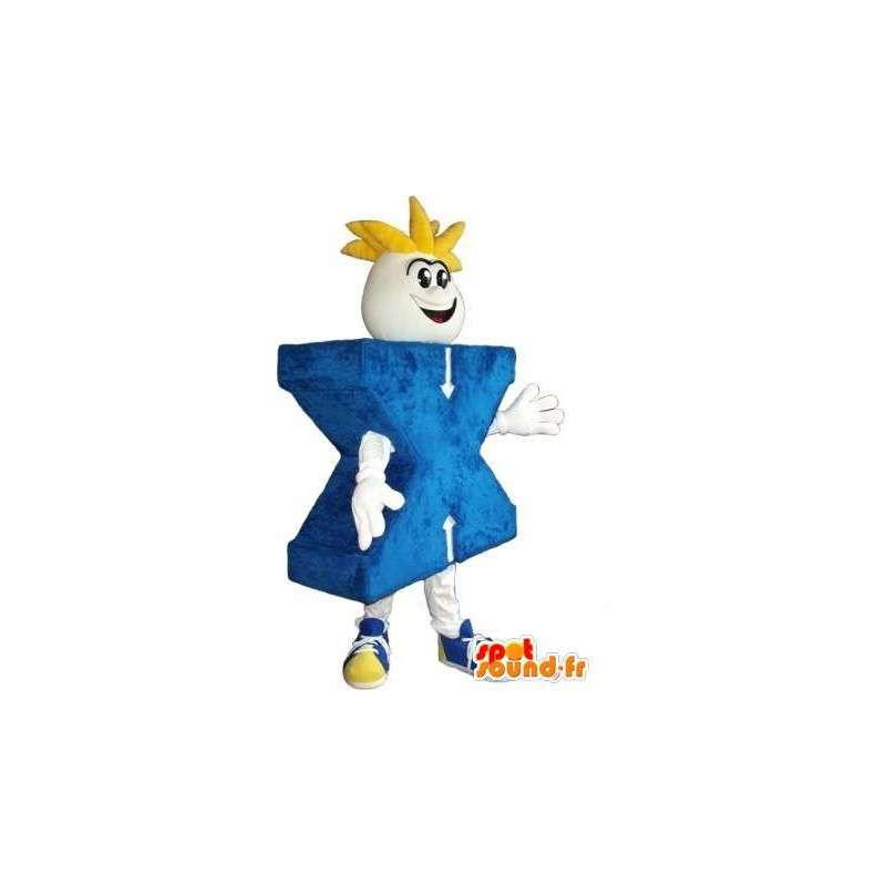 Maskotti on X-kirjain, naamioida kirjain X - MASFR001990 - Mascottes non-classées