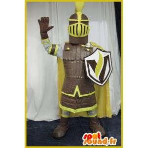 Mascote de um traje de cavaleiro da Idade Média - MASFR001992 - cavaleiros mascotes