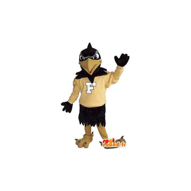 Mascot toont een ondersteunende raaf, vogel verhullen - MASFR001994 - Mascot vogels