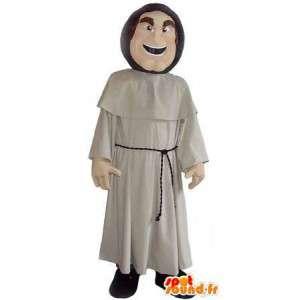Maskot, der repræsenterer en munk, forklædning af et kloster -