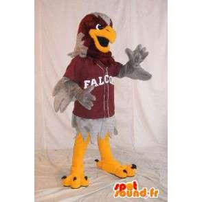 Mascot wat neerkomt op een grijze adelaar sporten, vermomming - MASFR001997 - Mascot vogels