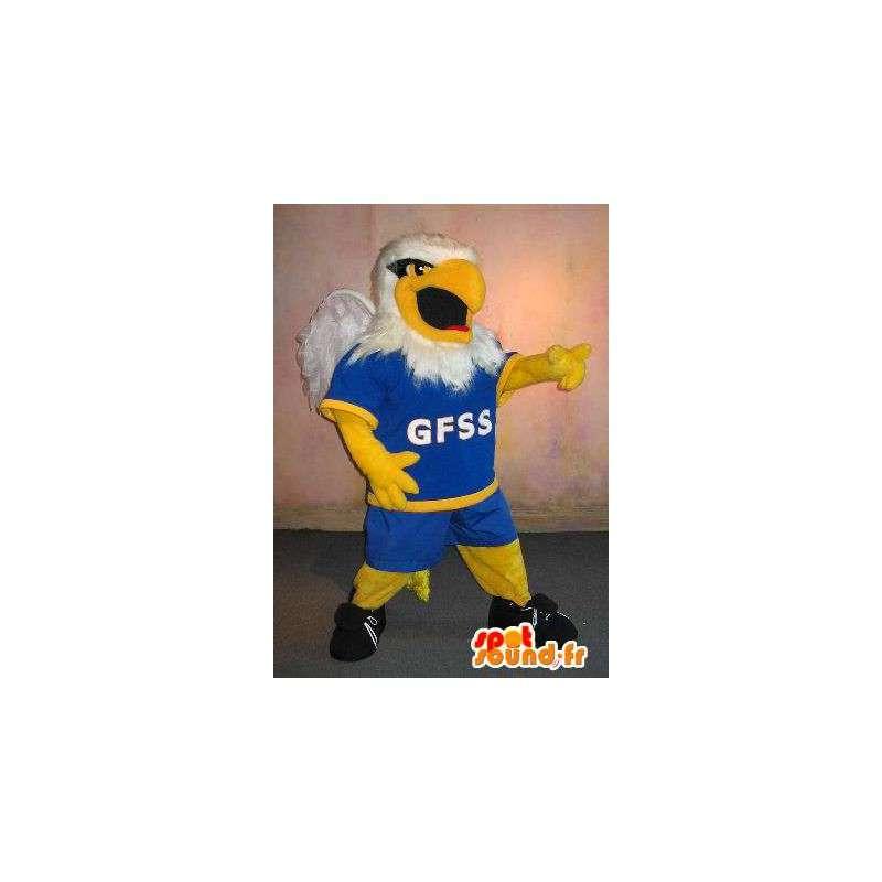 Eagle-Maskottchen Rugby Rugby-Spieler Kostüm - MASFR002003 - Maskottchen der Vögel