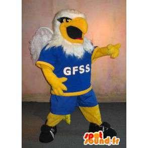 Rugby mascota de Eagle, jugador de rugby de vestuario - MASFR002003 - Mascota de aves
