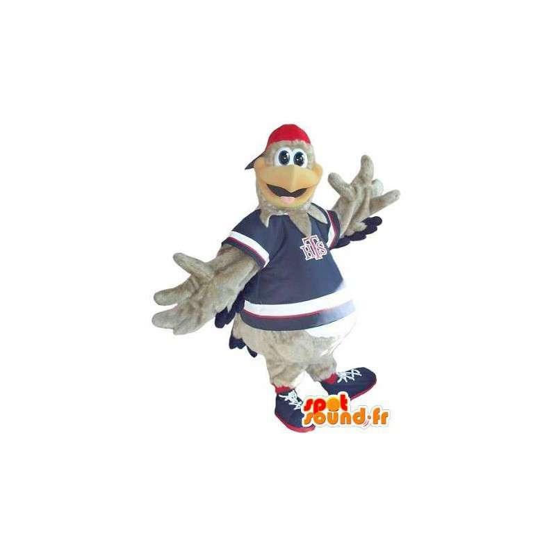 Maskottchen einen Grau Coq Sportif Kostüm Teen - MASFR002005 - Maskottchen der Hennen huhn Hahn
