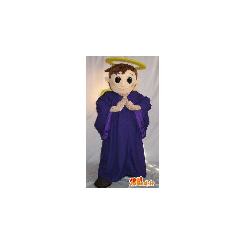 Mascot die een haloed angel, angelic verhullen - MASFR002076 - Human Mascottes