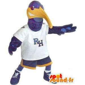 En representación de un deportivo de la mascota del pato, disfraz deporte