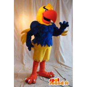 A parrot costume athletic, muscular disguise