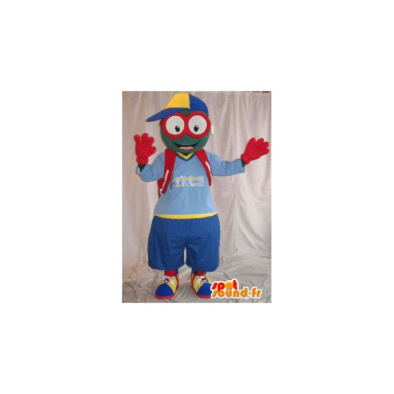 Mascot merry bespectacled schoolboy disguise - MASFR002015 - Human mascots