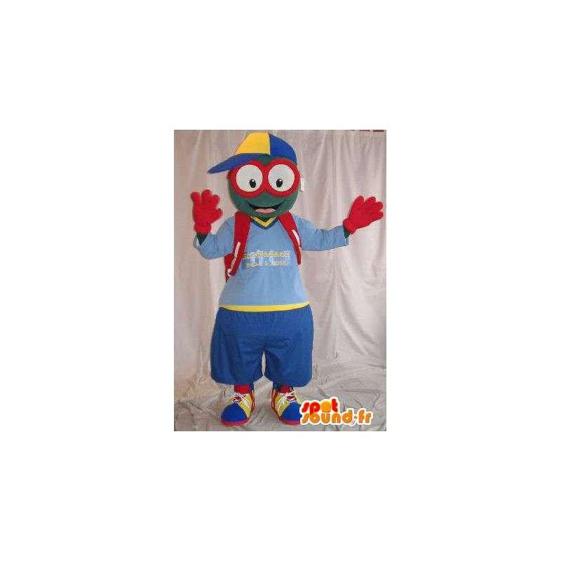 Mascotte de petit bonhomme à lunettes, déguisement d'écolier - MASFR002015 - Mascottes Homme