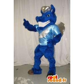 Mascot que representa un dragón azul, traje de la fantasía - MASFR002019 - Mascota del dragón