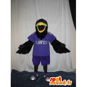 Hawk maskot fotballspiller, fotball drakt USA