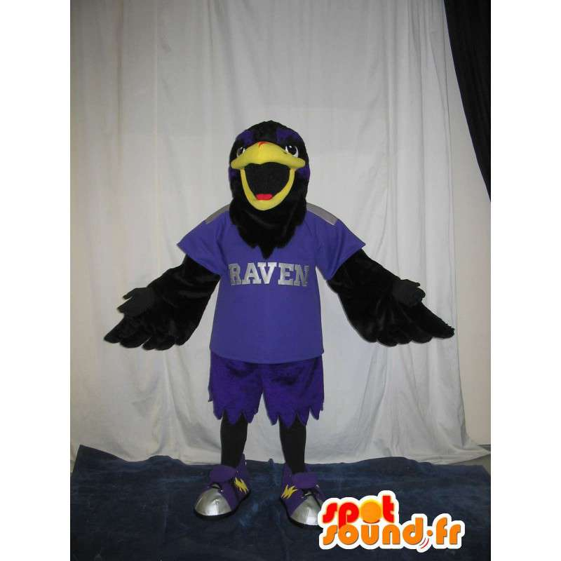 Falcon mascot football player, football disguise U.S. - MASFR002023 - Mascot of birds