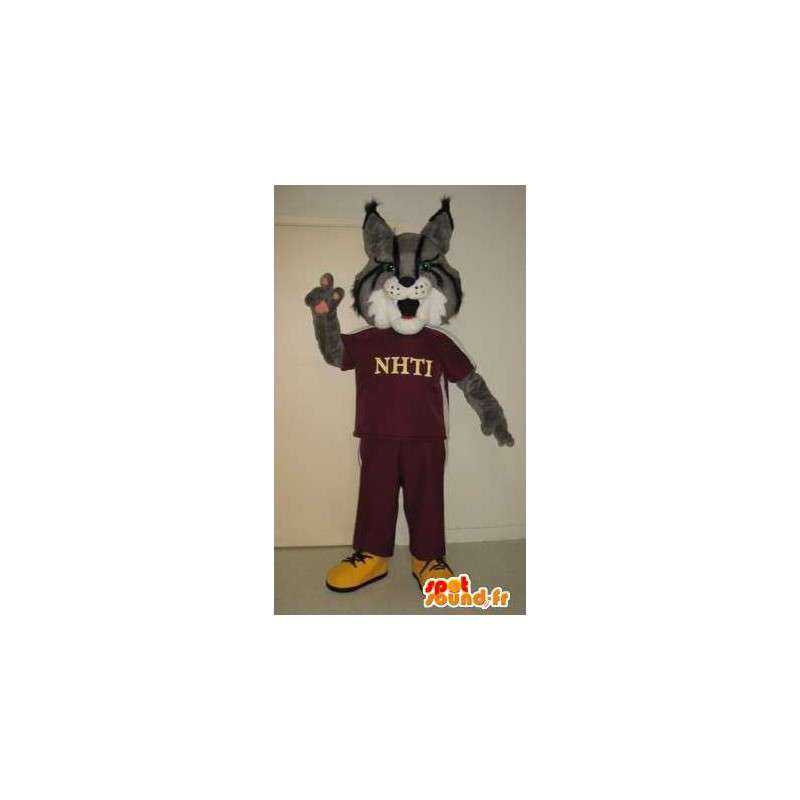 Fox mascota en ropa de deporte, deportes zorro del traje - MASFR002025 - Mascotas Fox