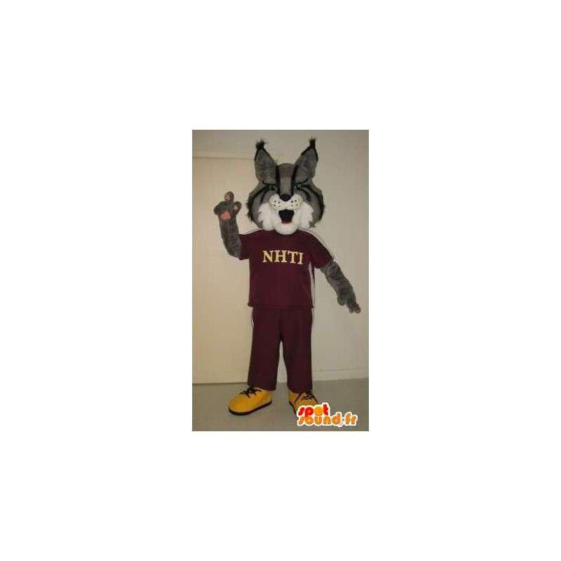 Fox-Maskottchen in Sportbekleidung Sport Kostüm Fuchs - MASFR002025 - Maskottchen-Fox