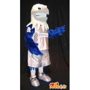 Mascot wat neerkomt op een adelaar basketbalspeler, basketbal vermomming