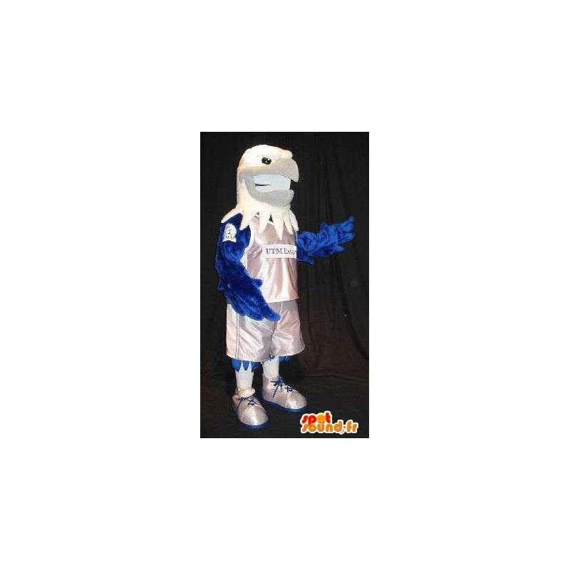 Mascot wat neerkomt op een adelaar basketbalspeler, basketbal vermomming - MASFR002026 - Mascot vogels