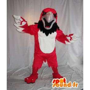 Mascot wat neerkomt op een rode adelaar, vogel kostuum - MASFR002028 - Mascot vogels