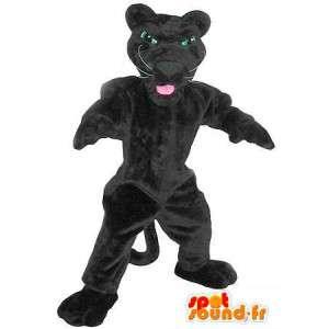 En representación de una pantera negro mascota traje Panther
