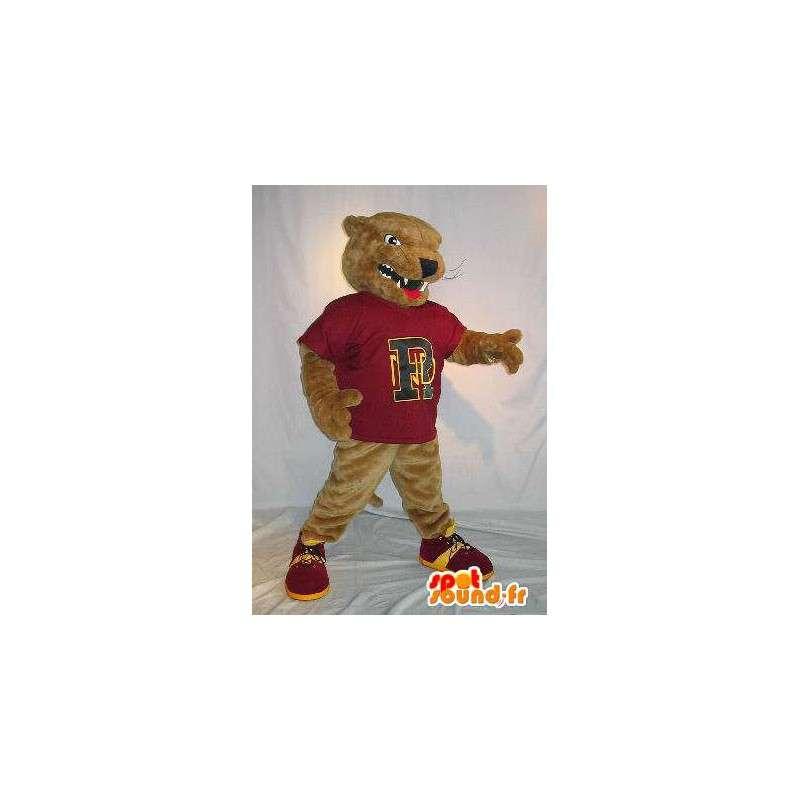 Mascot representa una rata marrón traje de mamíferos - MASFR002035 - Mascotas
